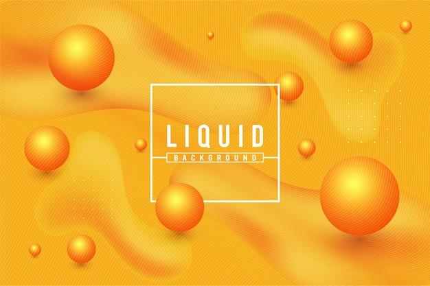 Modello di disegno di sfondo liquido sfumato arancione