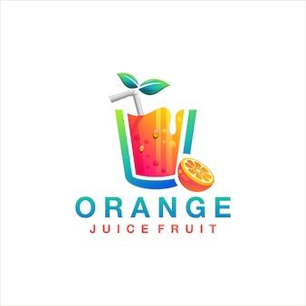 Logo di frutta succo d'arancia