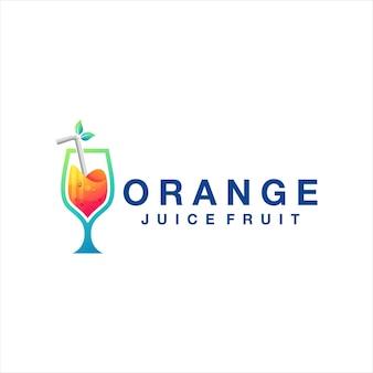 Logo sfumato di succo d'arancia