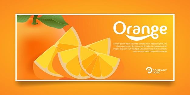 Design della bandiera del prodotto di succo d'arancia