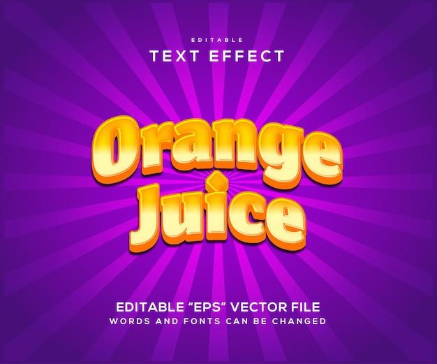 Effetto di testo in stile succo d'arancia