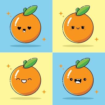 Collezioni kawaii arancioni