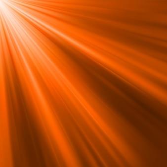 Raggi luminosi arancioni. file incluso