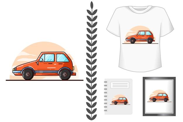 Set di branding per auto pantera arancione