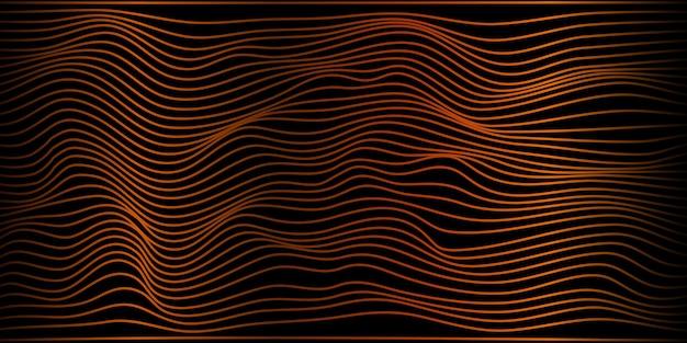 Design del banner sul pavimento con particelle arancioni
