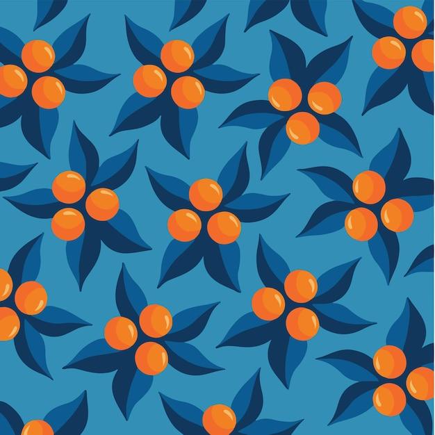 Sfondo arancione modello social media post frutta illustrazione vettoriale
