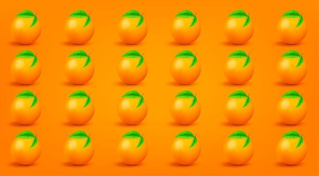 Modello arancione. di moda