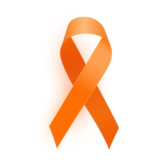 Nastro arancione un simbolo medico di leucemia