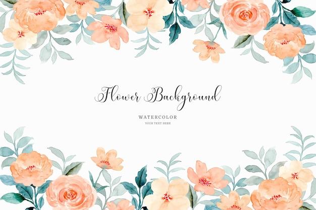 Fondo della struttura del fiore della rosa arancione con l'acquerello