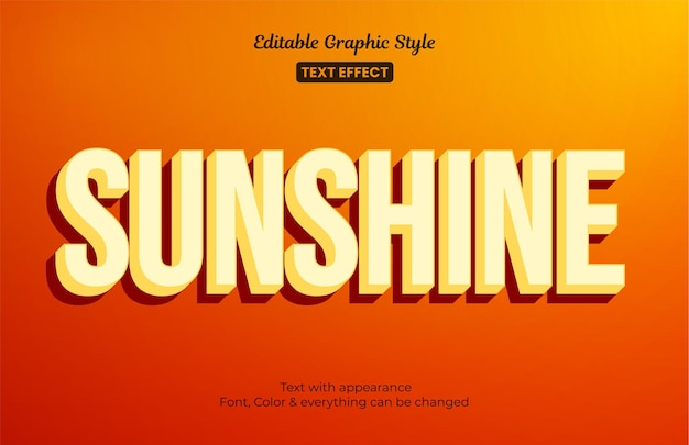 Orange sunshine, effetto stile testo modificabile