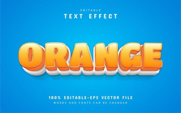 Stile cartone animato effetto testo arancione