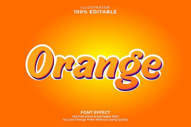 Effetto testo arancione