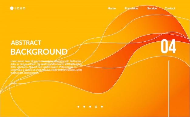 Onda arancione sfondo astratto moderno