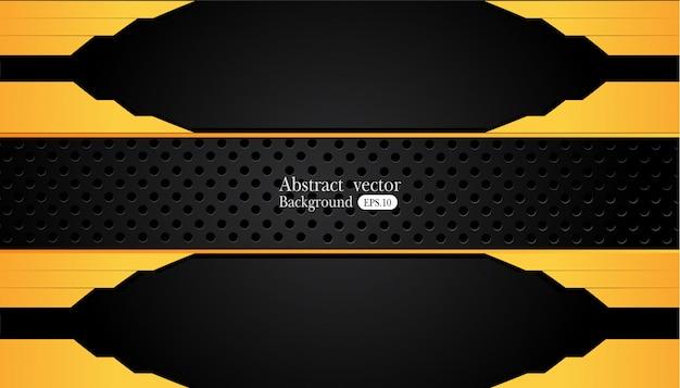 Fondo astratto di affari di giallo e nero arancio. progettazione di vettore.