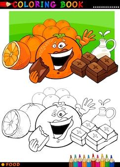 Arance e cioccolato per la colorazione
