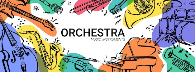 Concerto dell'orchestra banner orizzontale
