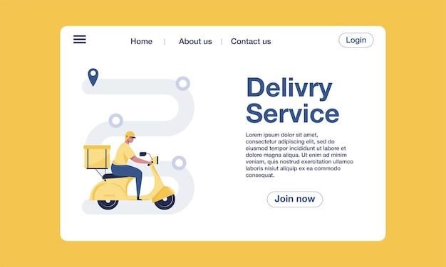 Concetto di design del modello di pagina di destinazione per il monitoraggio della consegna dell'ordine. illustrazione vettoriale