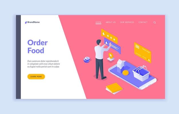 Ordina il modello di pagina di destinazione del cibo