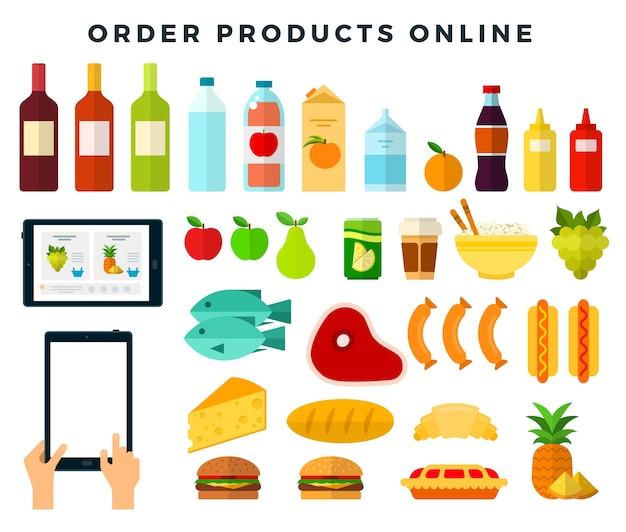 Ordinazione di cibo tramite applicazione mobile
