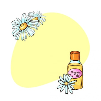 Illustrazione di cosmetici biologici.