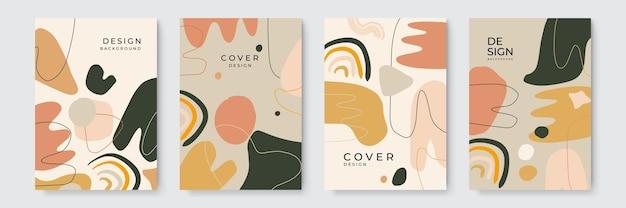 Sfondo di copertina organica. sfondo astratto con trame disegnate a mano, stile memphis con composizione minima di forme organiche astratte in stile collage contemporaneo alla moda