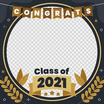 Classe piatta organica del modello di cornice 2021