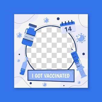 Cornice facebook organica per coronavirus piatta
