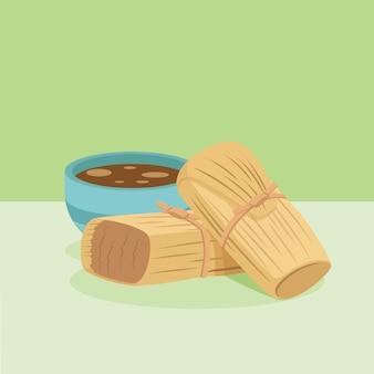 Tamales deliziosi piatti biologici