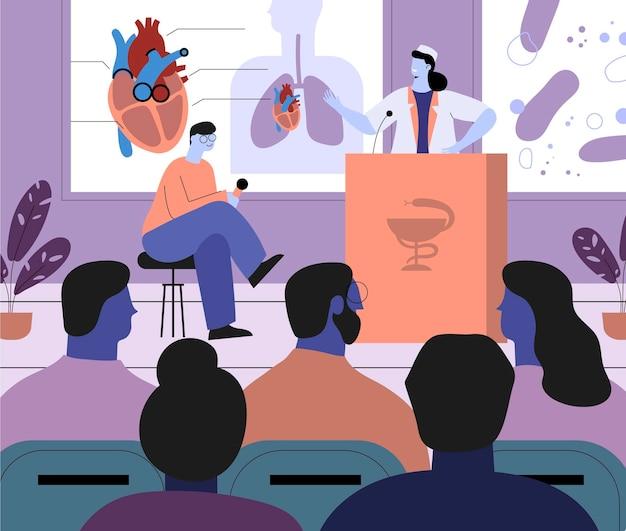 Conferenza medica organica di design piatto