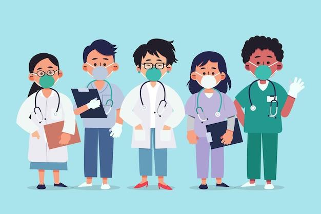 Medici e infermieri piatti organici