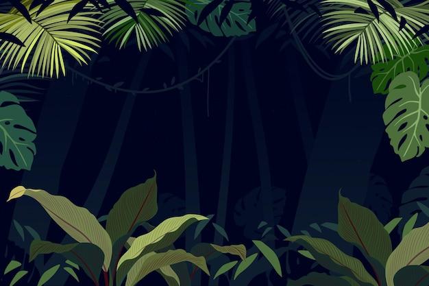 Sfondo giungla piatta organica