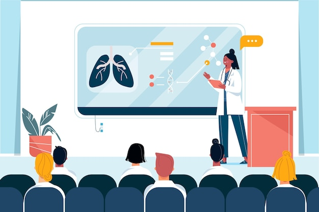 Conferenza medica piatta organica
