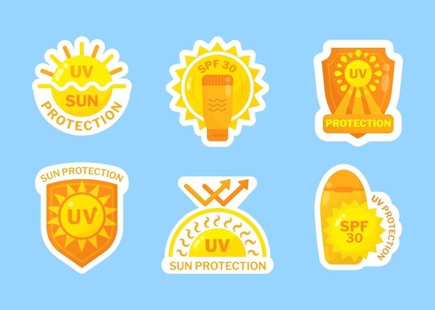 Confezione di badge uv piatti organici