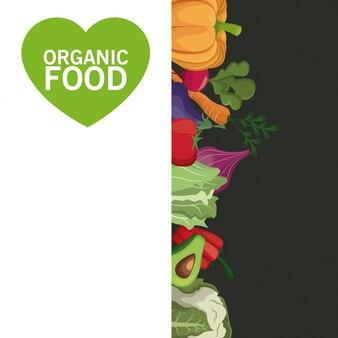 Raccolta di verdure di carta di alimenti biologici