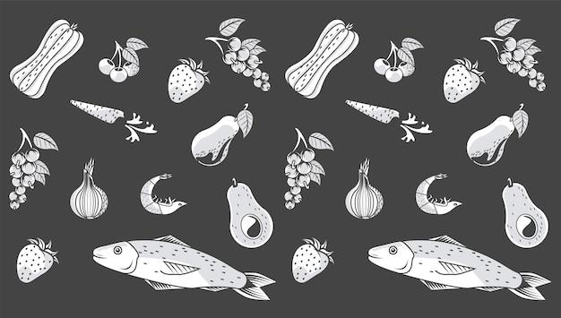 Modello di cibo biologico