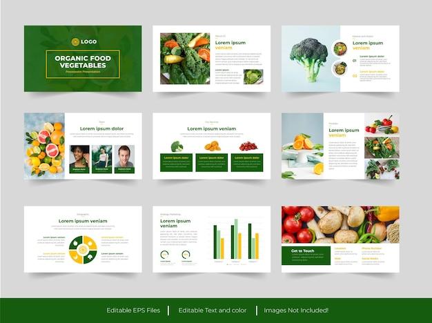 Modello di presentazione di alimenti biologici e verdure