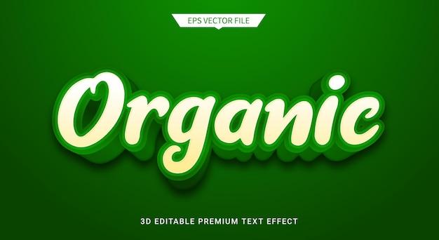 Effetto di stile di testo modificabile 3d verde organico