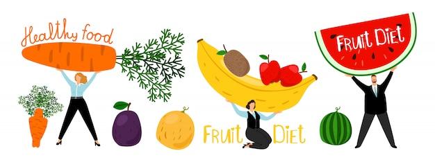 Concetto di dieta sana organica
