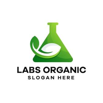 Design del logo del gradiente di laboratorio organico