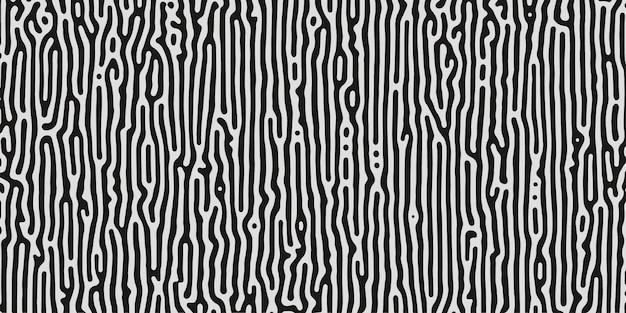 Carta da parati organica line art colori bianco e nero generativo di turing