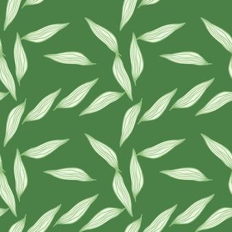 La linea organica lascia il modello su fondo bianco. contesto botanico astratto. carta da parati della natura. per il design del tessuto, la stampa tessile, il confezionamento, la copertura. illustrazione vettoriale semplice.