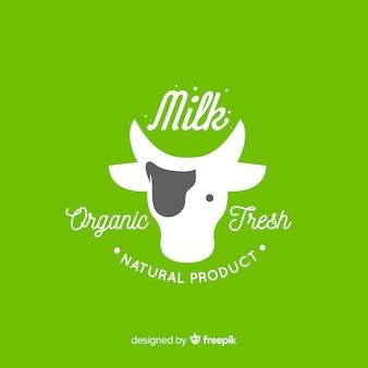 Logotipo di latte biologico