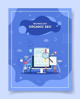 Seo organico per modello di banner, flyer, copertina di libri, rivista