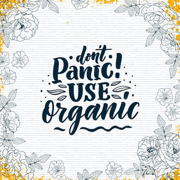 Insegna di concetto di frase di cura della pelle organica. slogan cosmetico naturale per presentazione o sito web.