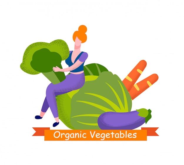 Verdure biologiche, scelta di alimenti sani
