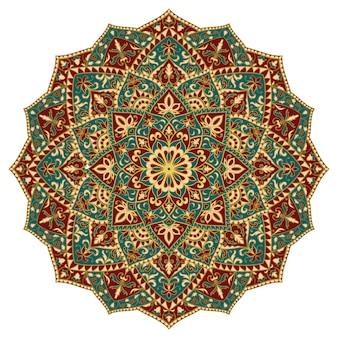 Mandala astratta orientale. elemento di design indiano.