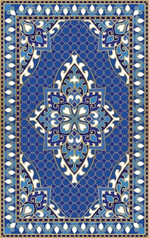 Ornamento astratto orientale. modello colorato per moquette, copertina, scialle, tessuto. motivo ornamentale colorato con dettagli in filigrana.