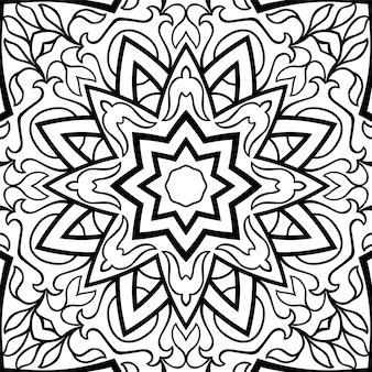 Ornamento orientale bianco e nero.
