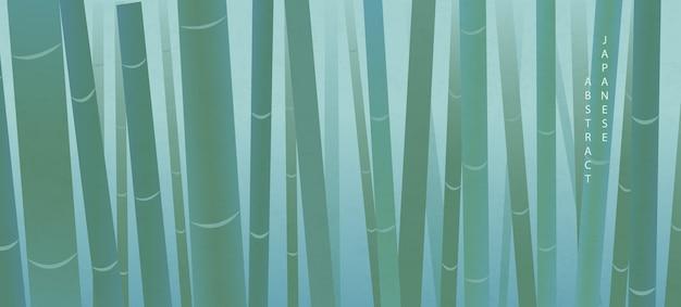 Stile giapponese orientale modello astratto sfondo elegante natura bambù