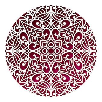 Disegno di mandala orientale. ornamento d'epoca. disposizione tribale. motivi islamici, arabi, indiani, ottomani. elemento medaglione etnico. motivo a pizzo concetto di stampa creativa